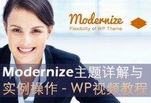 Modernize外贸建站企业建站视频教程
